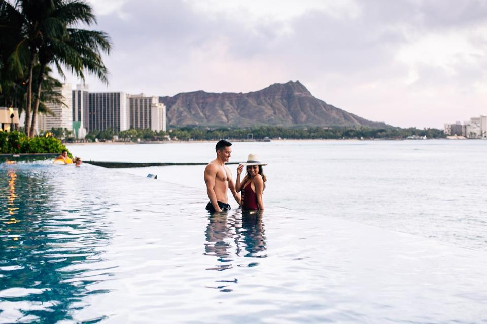 Piscine Sheraton Waikiki Hawaii