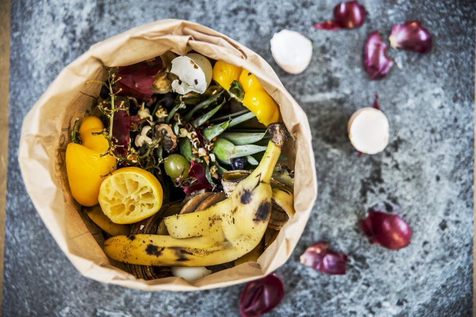 Restos de frutas y verduras