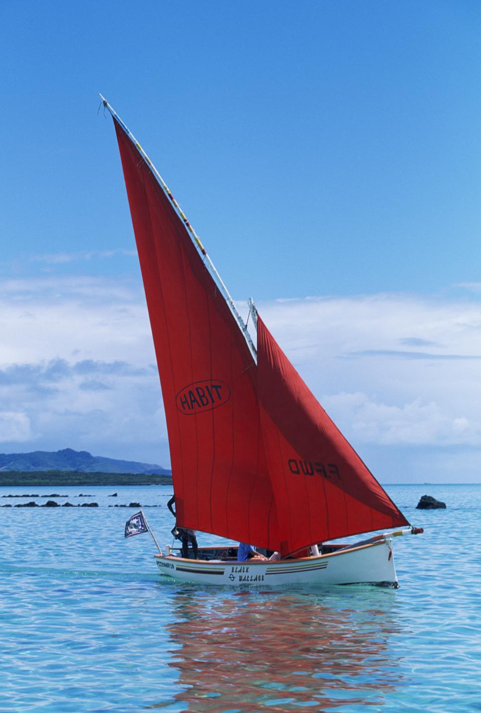 Mauritus' fishing boats within the lagoon tend to be small, wooden vessels for small quantities of fish