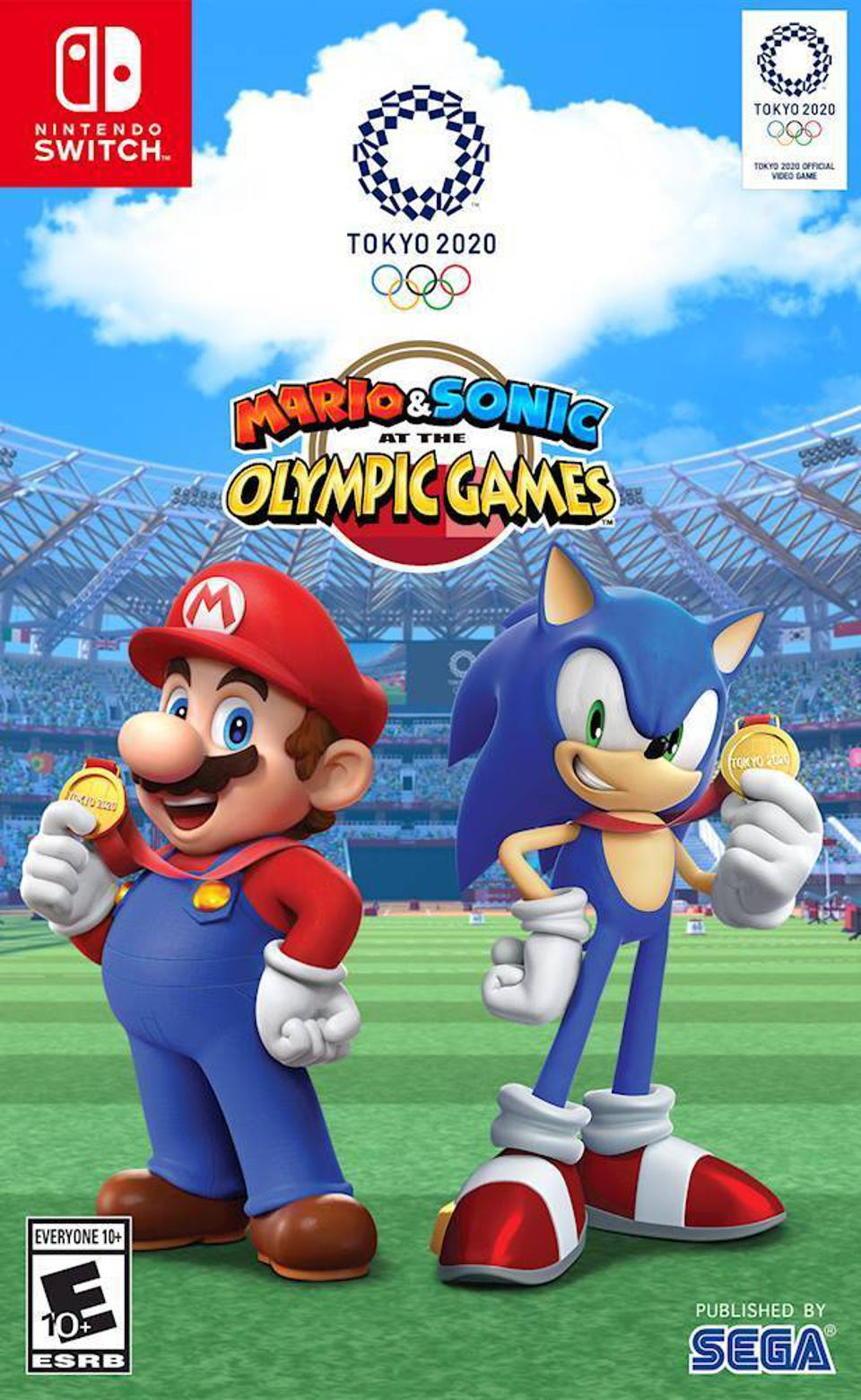 Mario and Sonic at the Olympic Games Tokyo 2020 for Nintendo Switch retail packaging