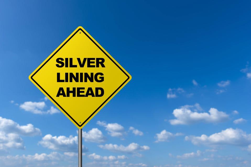 Silver Lining Ahead  - Road Warning Sign