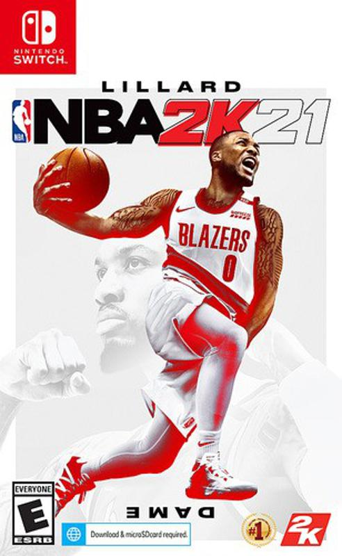 NBA 2K21 for Nintendo Switch retail box art