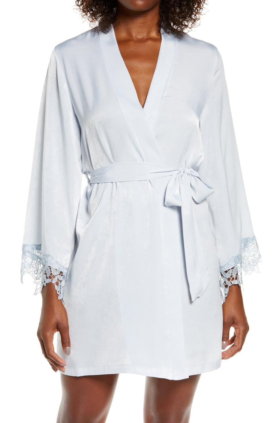 In Bloom by Jonquil Know a Secret Satin Wrap Robe
