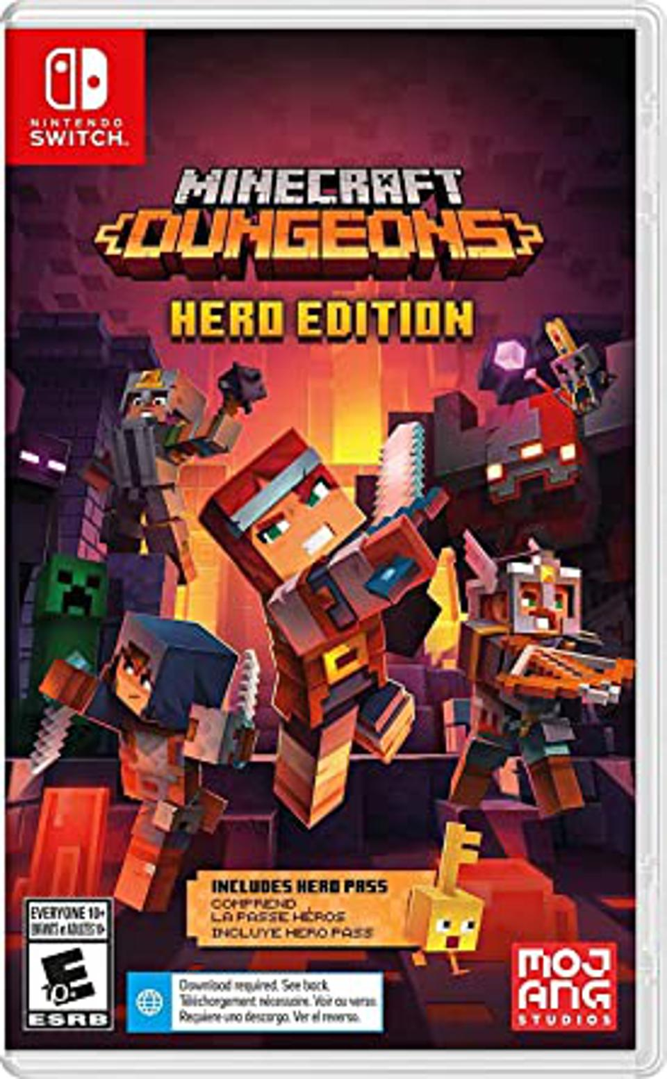 Minecraft Dungeons Hero Edition for Nintendo Switch retail box art