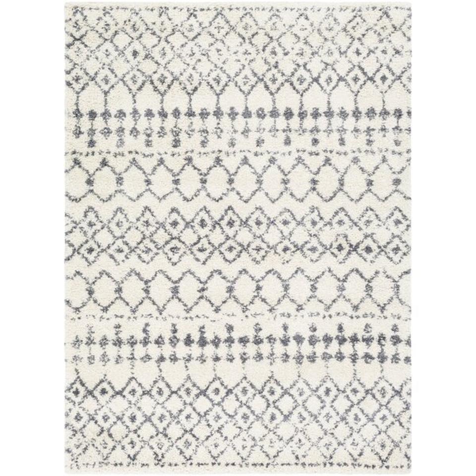 Shiloh Geometric Medium Gray/White Area Rug