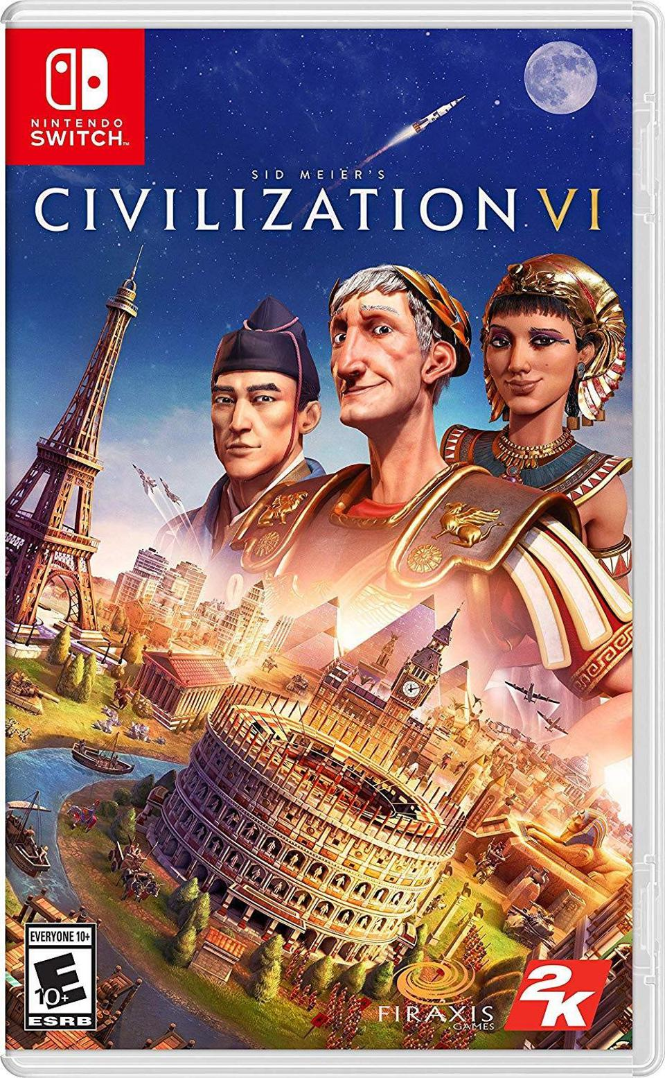 Sid Meier's Civilization VI for Nintendo Switch retail box art