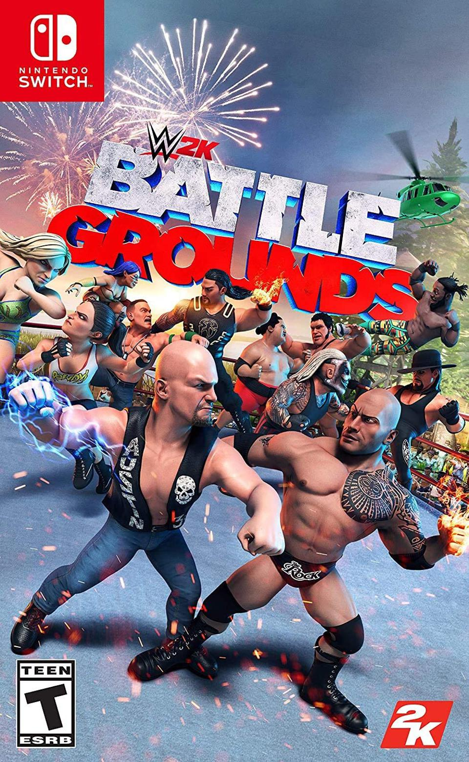 WWE 2K Battlegrounds for Nintendo Switch retail box art