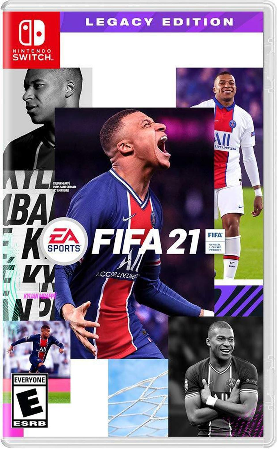 FIFA 21 Legacy Edition for Nintendo Switch retail box art