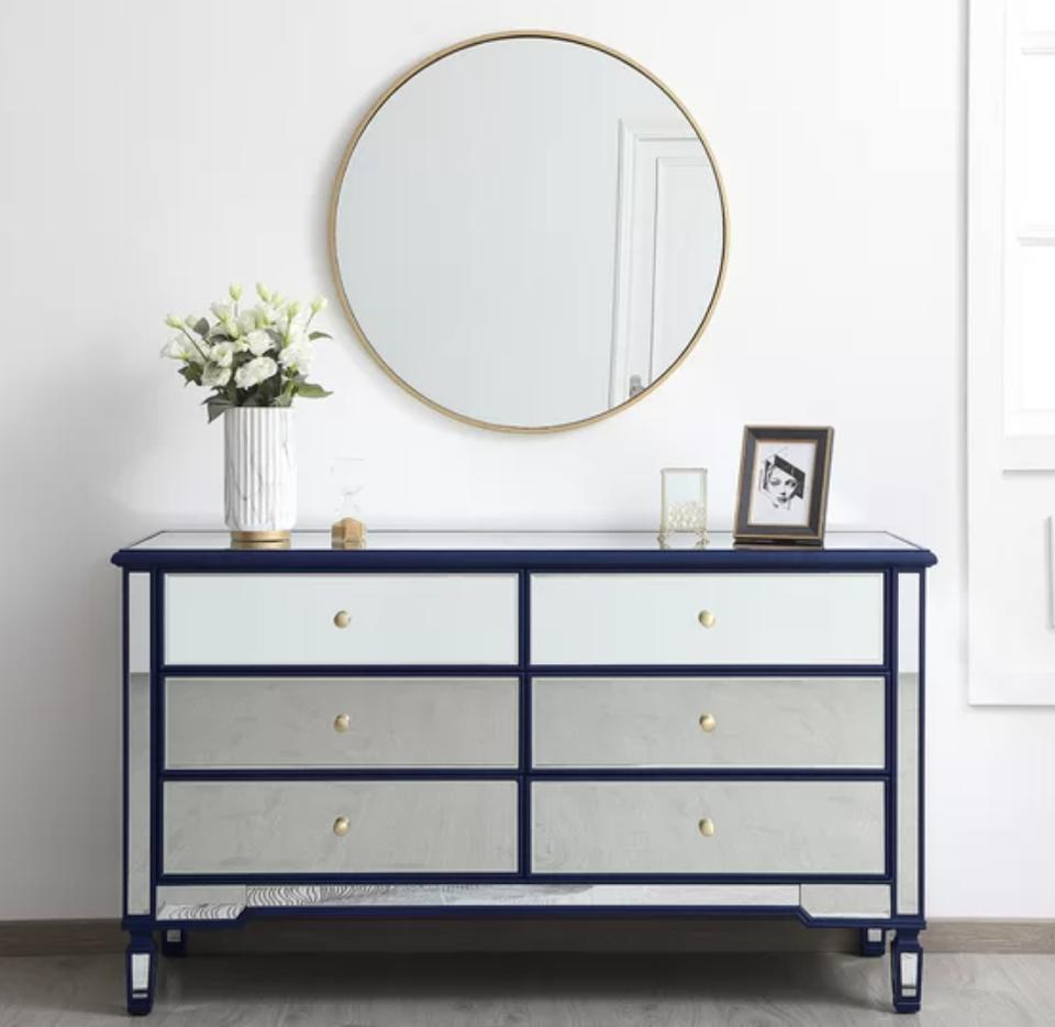 Shelly 6 Drawer Double Dresser