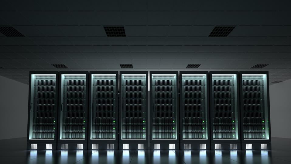 Illuminated Server Room