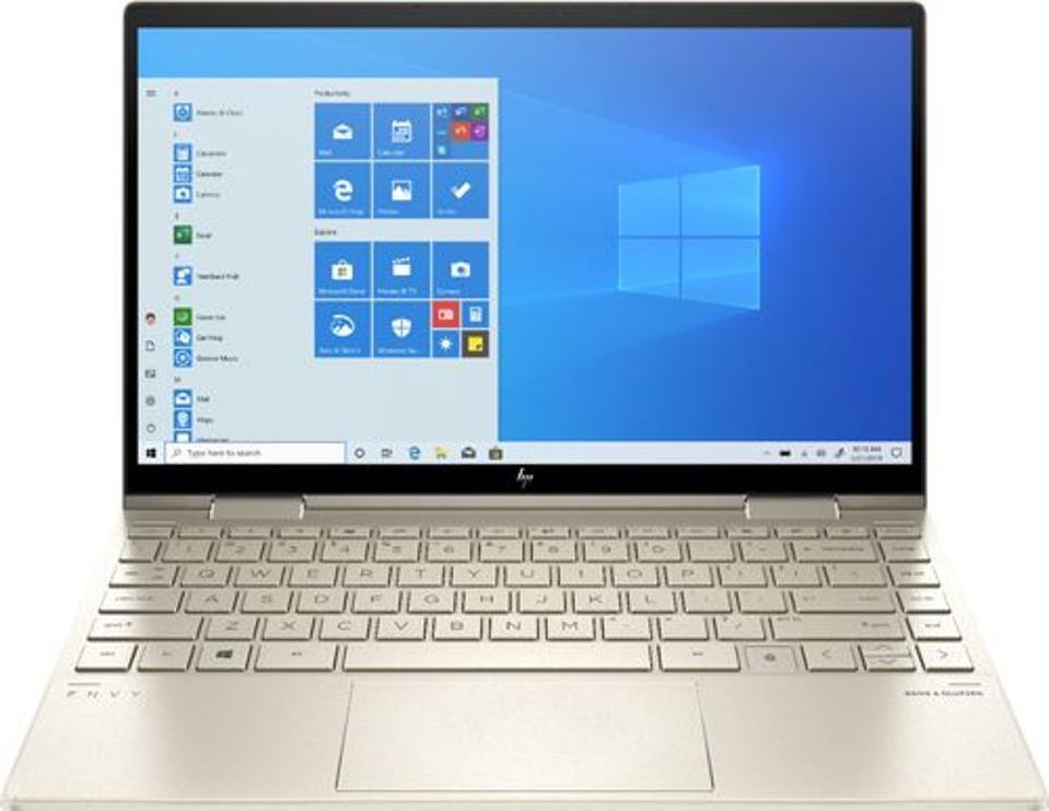 HP Envy x360 2-in-1 laptop running Windows 10
