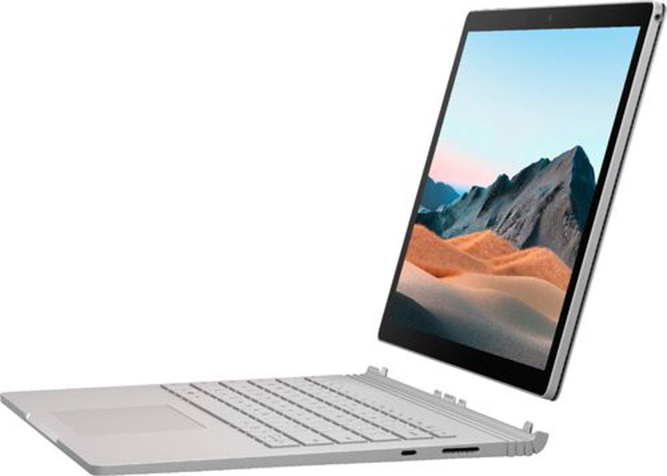Microsoft Surface Book 3 laptop screen detached from keyboard