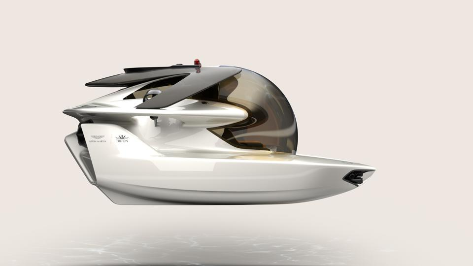 Side view of Project Neptune personal submarine.