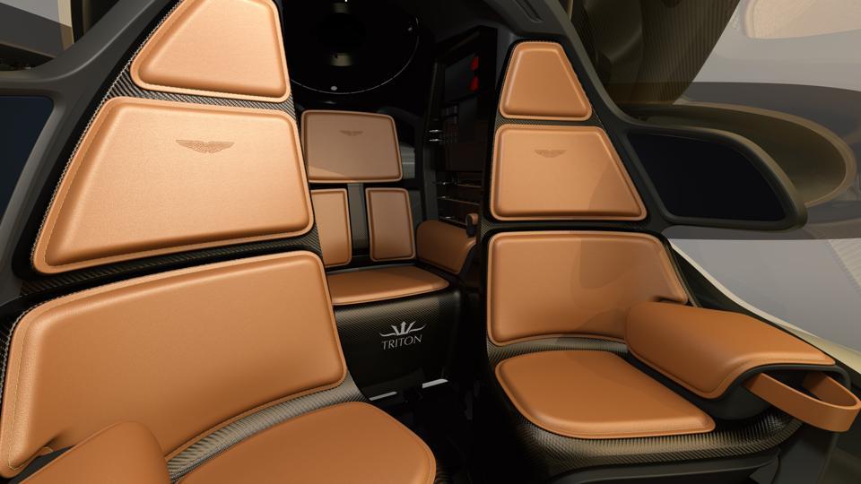 The interior of the Aston Martin/Triton personal submarine collaboration.