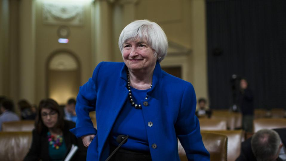 Federal Reserve Chairwoman Janet Yellen Testifies To Joint Economic Committee On Economy