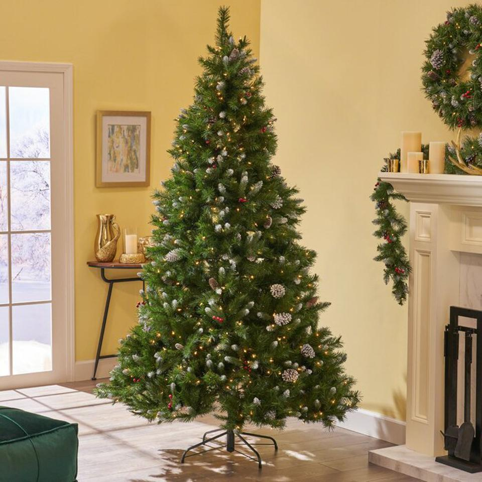 The Holiday Aisle 7.5' Frosted Green Spruce Artificial Christmas Tree