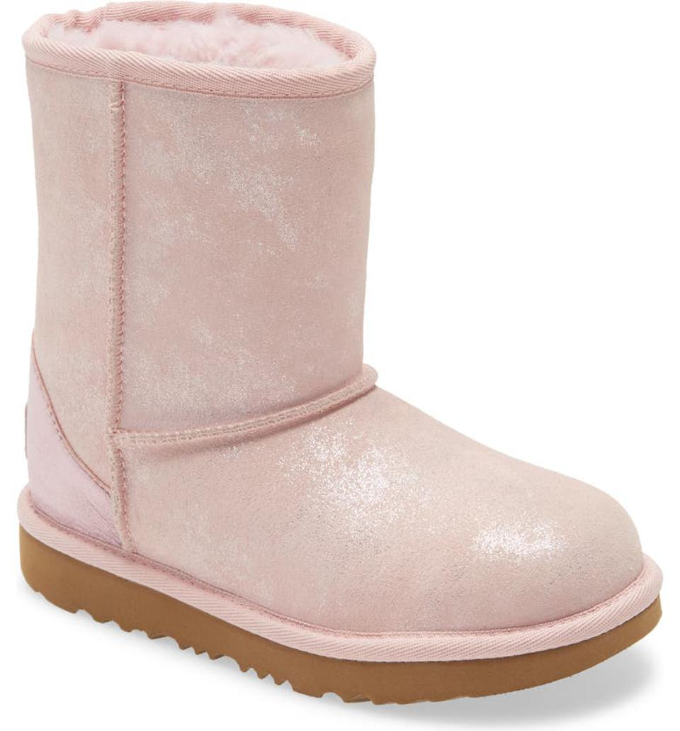 UGG® Classic II Shimmer Metallic Bootie (Walker, Toddler, Little Kid & Big Kid)