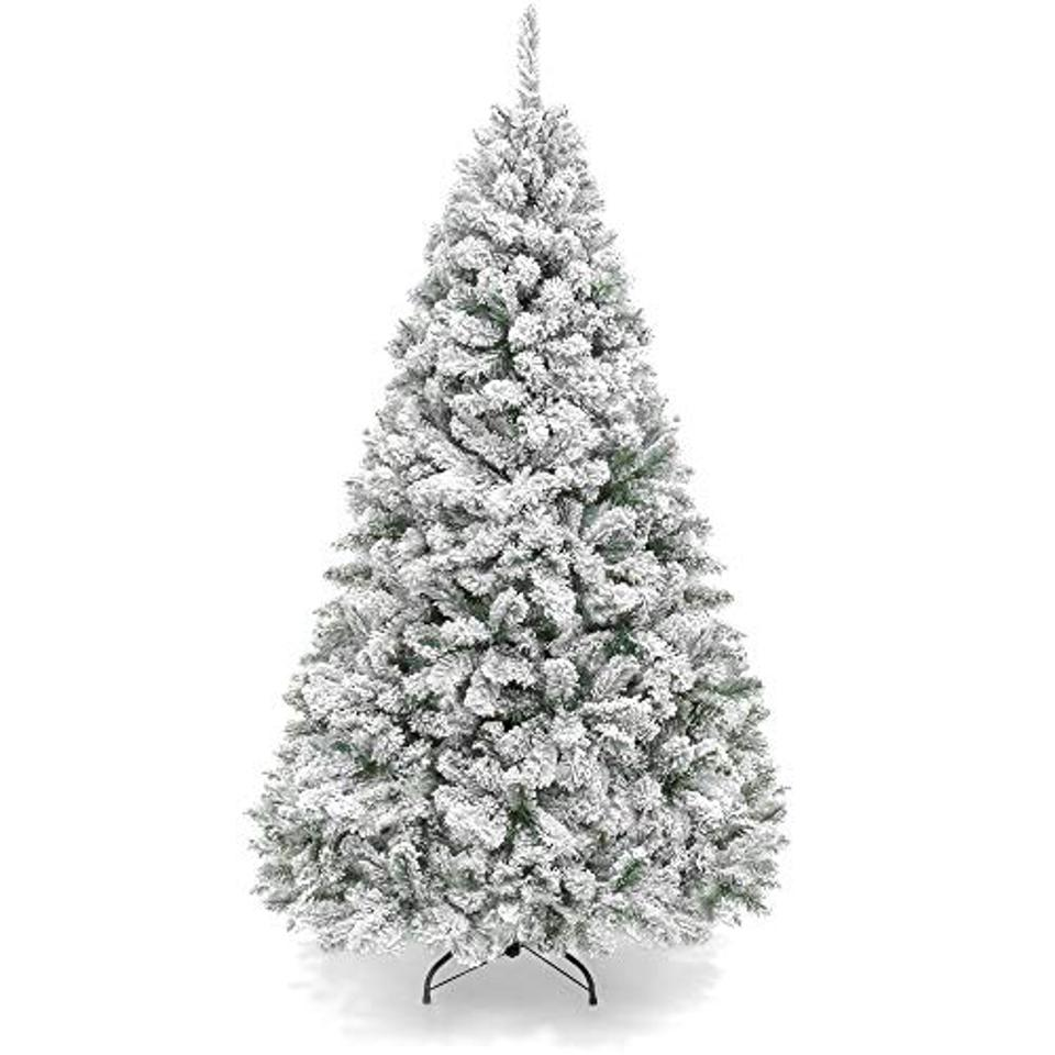 Best Choice Products 6ft Premium Snow Flocked Christmas Tree
