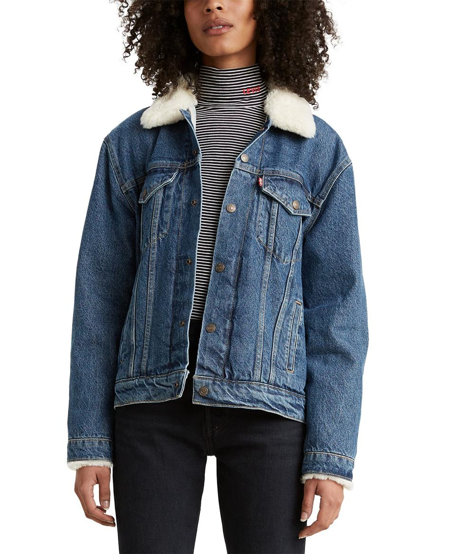 Levi's Fleece-Trim Denim Trucker Jacket