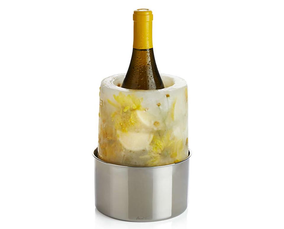 Crate & Barrel's ice mold wine chiller
