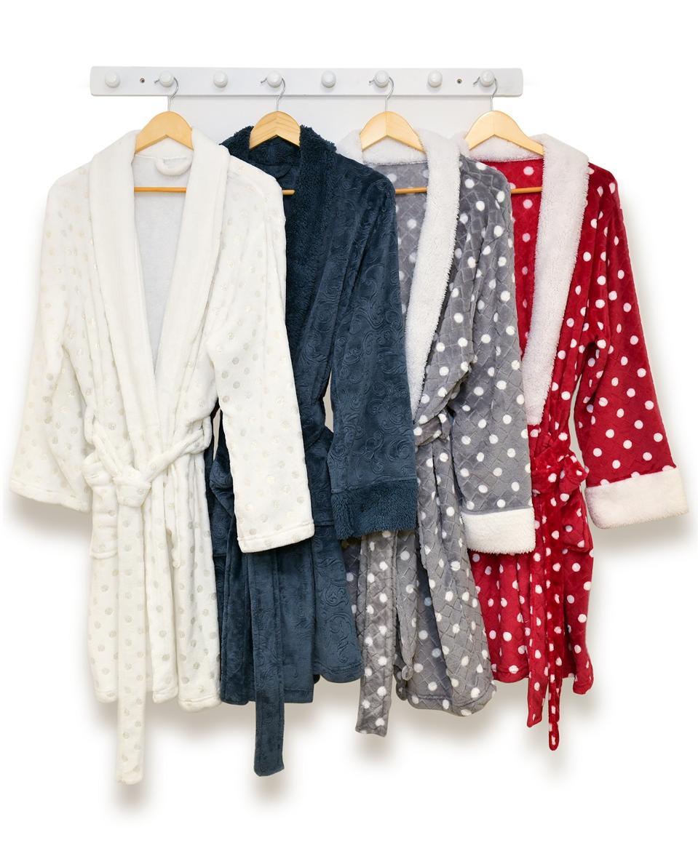 Martha Stewart Collection Plush Bath Robe, Created for Macy's