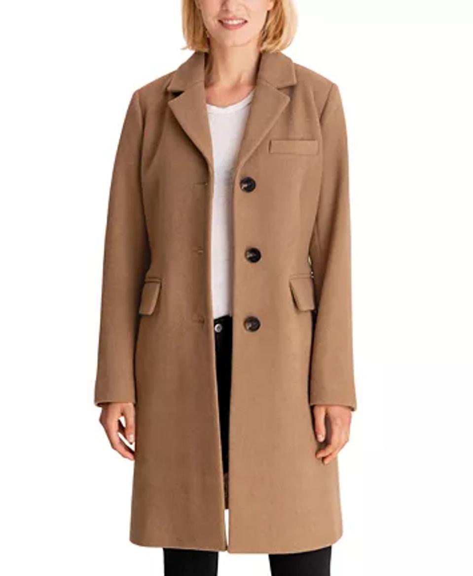 MICHAEL Michael Kors Single-Breasted Walker Coat, Created for Macy's