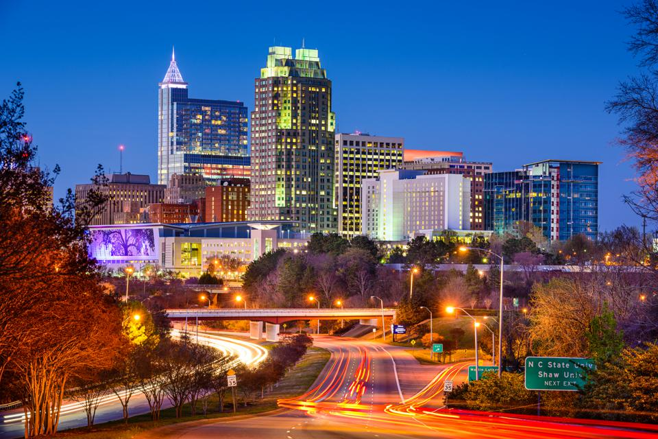 Skyline of Raleigh, North Carolina