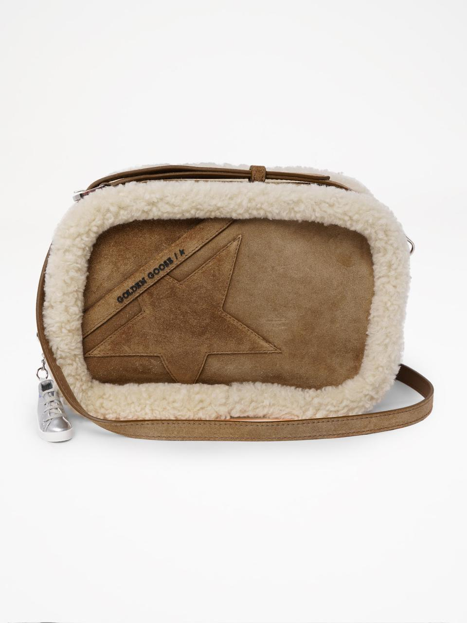 Golden Goose Star Bag with shearling edging