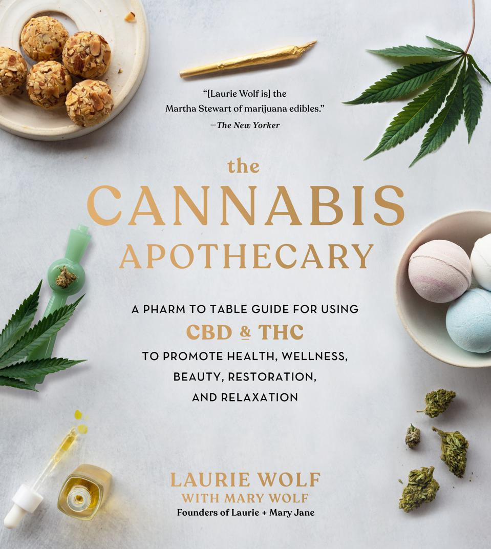 The cover of Cannabis Apothecary by Laurie and Mary Wolf.