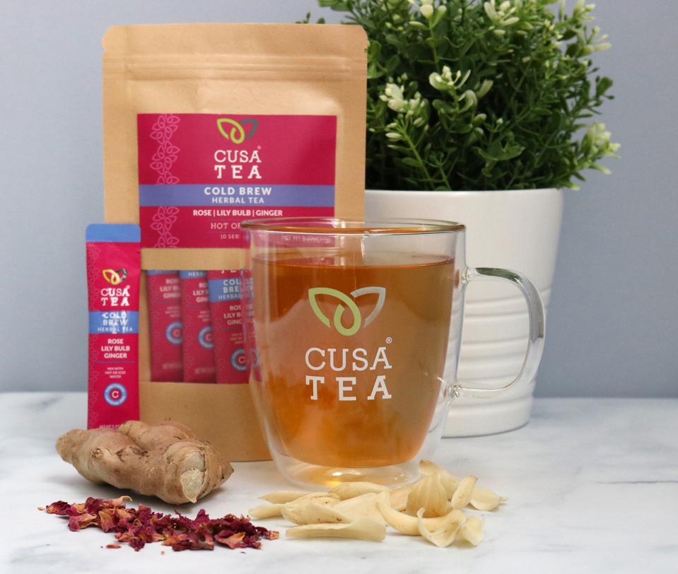 Cusa Rose Ginger Herbal Tea cold brew coffee organic