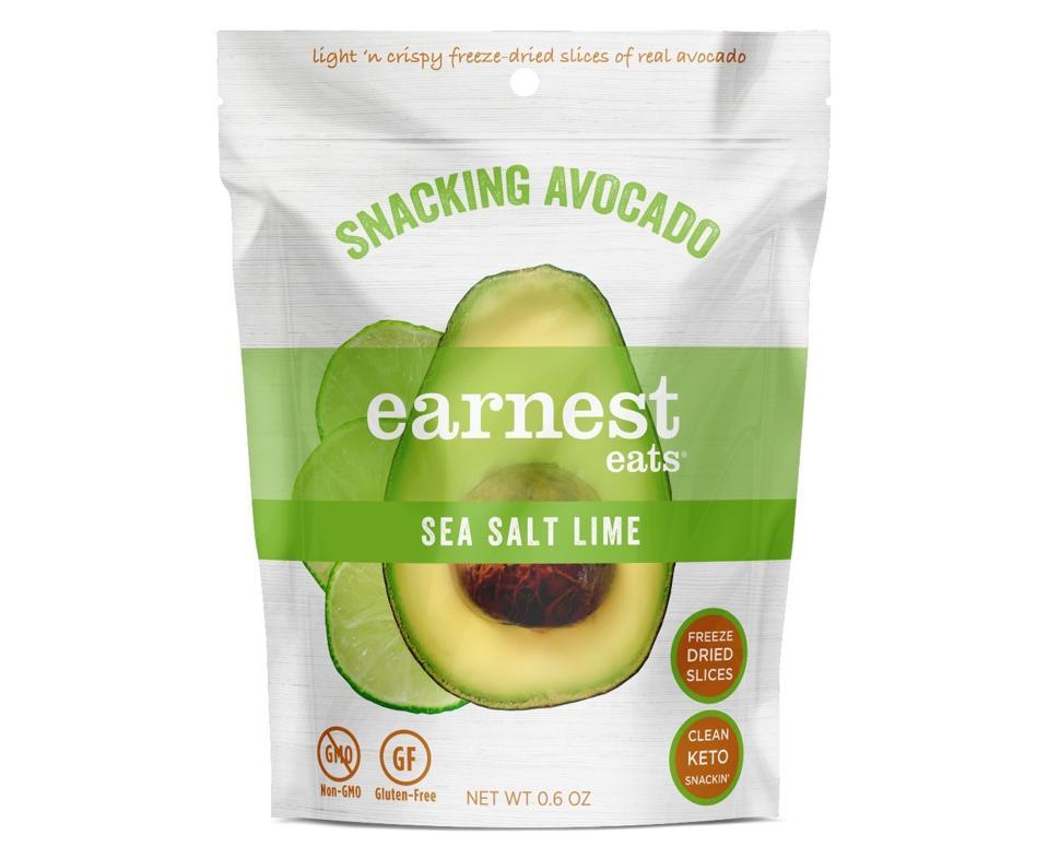 Earnest Eats SNACKING AVOCADO sea salt lime chips crispy