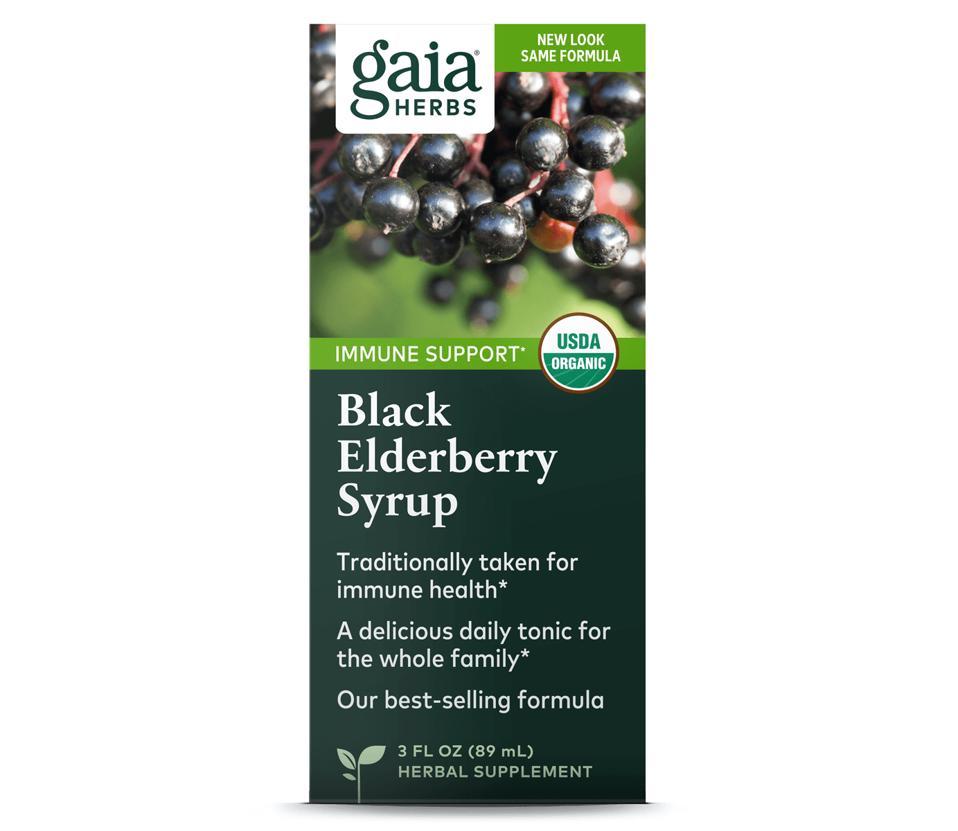 Gaia Herbs Black Elderberry Syrup antioxidants immune support