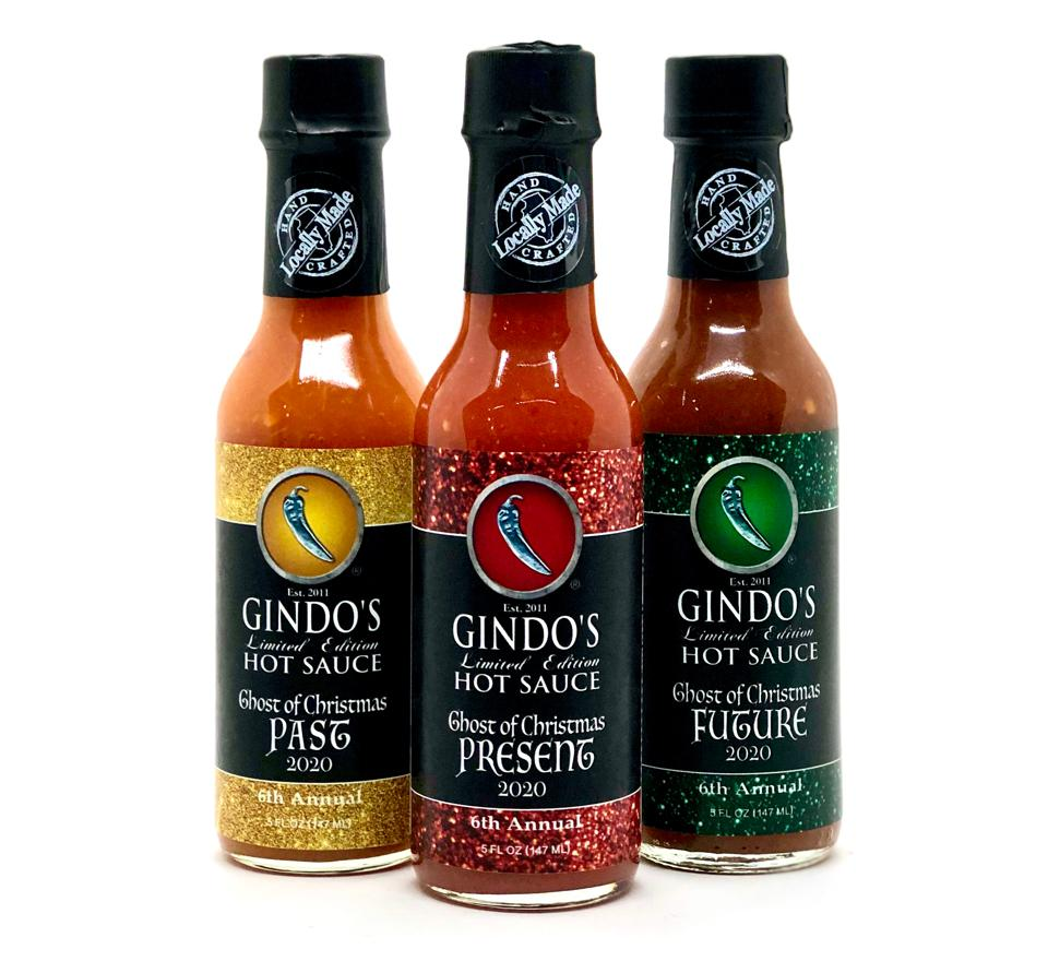 Gindo's Spice of Life Award-Winning Fresh Pepper Hot Sauces 2020 GHOST OF CHRISTMAS BOX