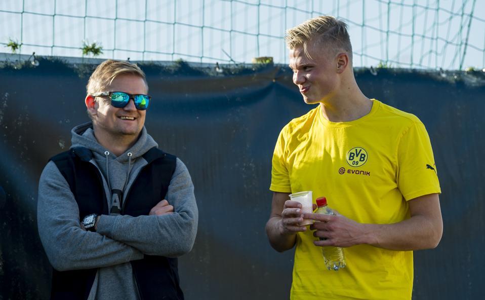 Borussia Dortmund Training Camp Erling Haaland and father Alf-Inge