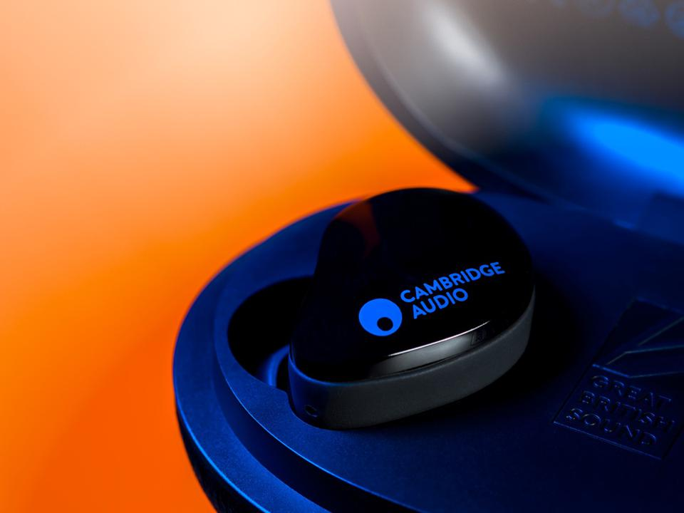 Close up of Melomania Touch true wireless earbud