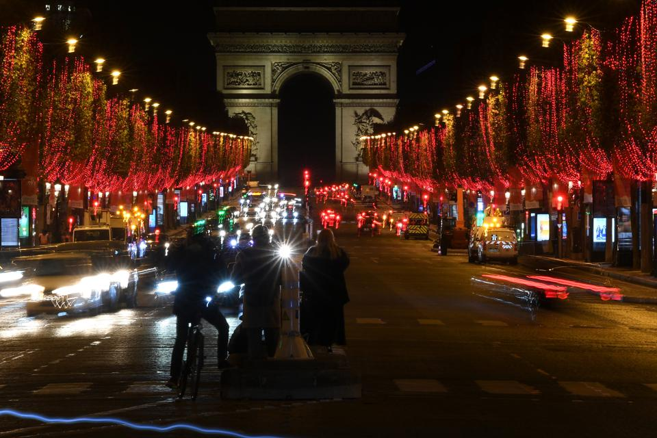 Christmas Lights Launch On The Champs Elysees In Paris