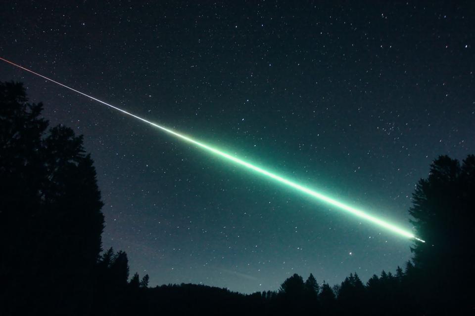An image of the fireball captured near Salzburg, Austria.