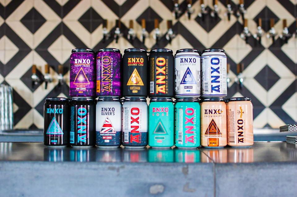ANXO cider cans