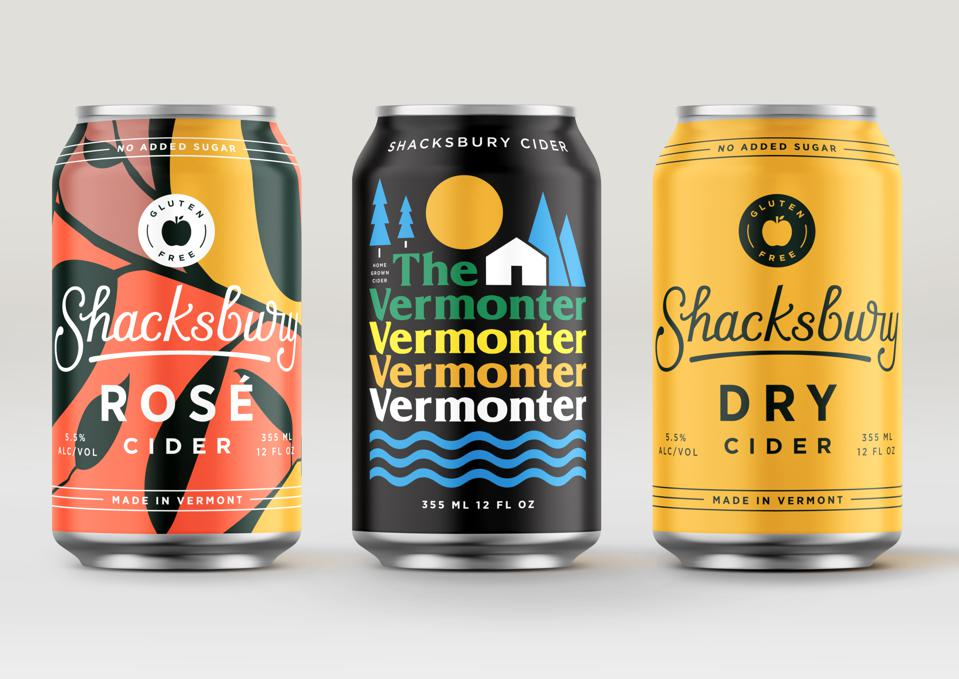 Shacksbury's core cider cans