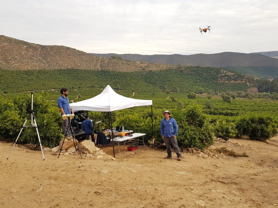 The SeeTree team doing surveyance on an avocado farm using drones.