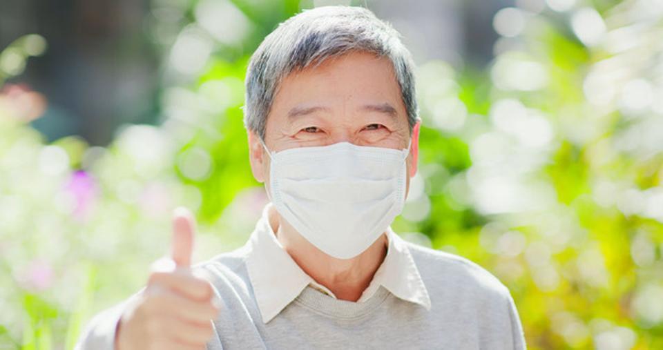 Older man with mask