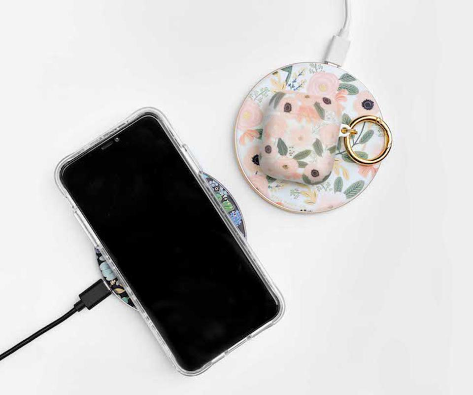flower printed wireless charging plates