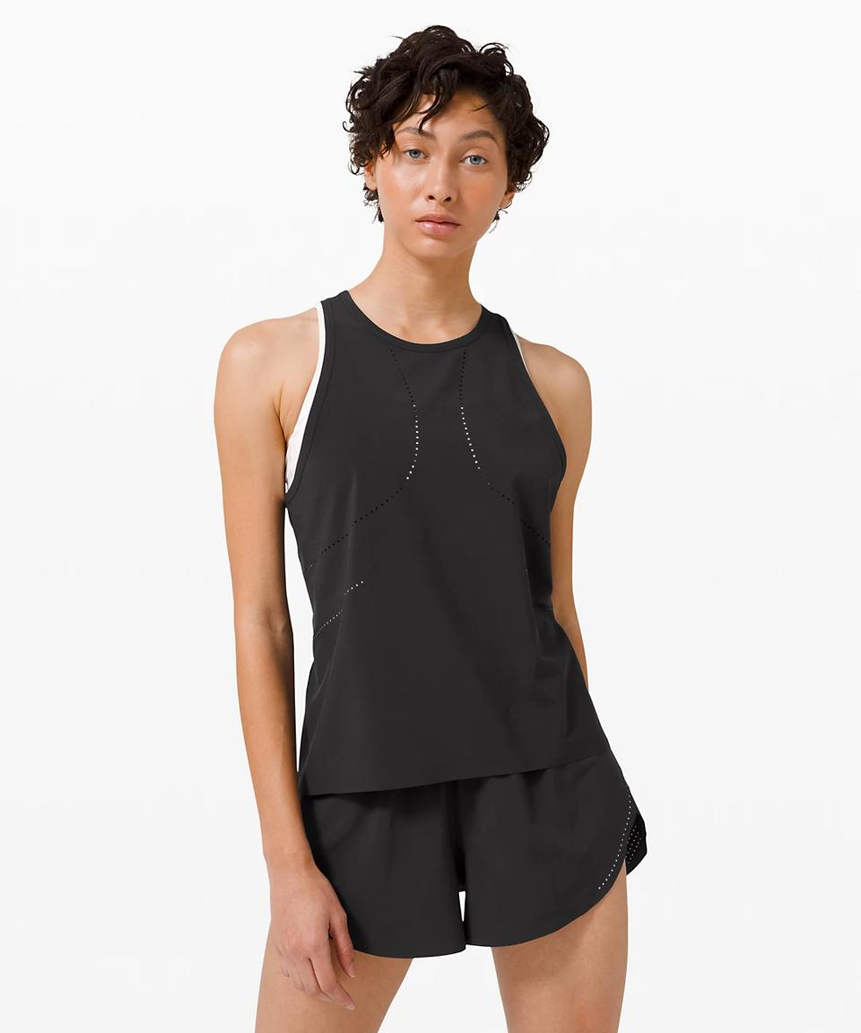 Find Your Pace Tank  in black.