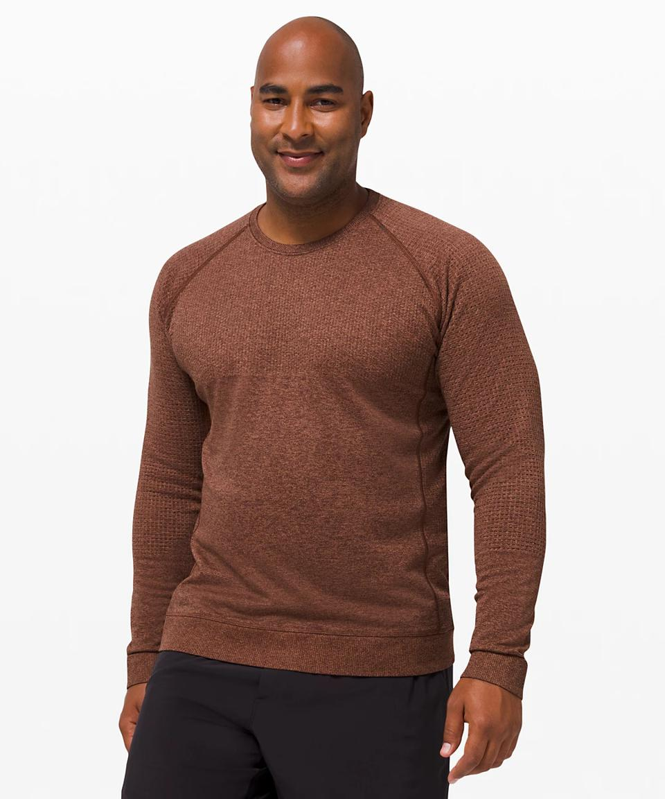 Engineered Warmth Long Sleeve in copper.
