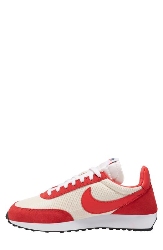 Red Nike Tailwind 79 sneakers.