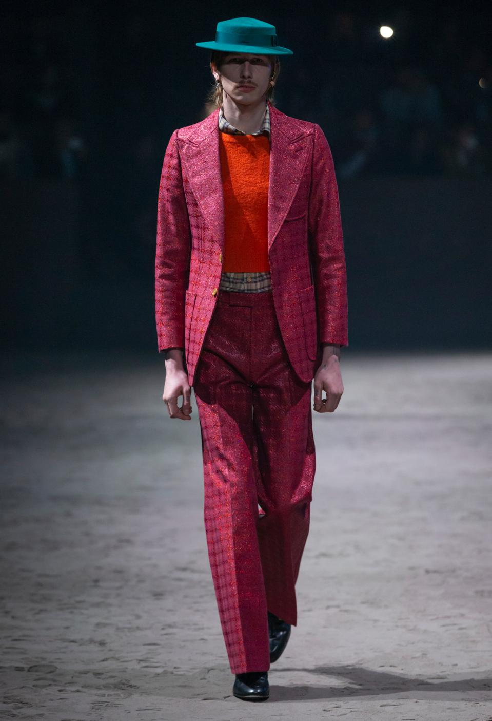 A suit that is: bold, tailored, unique, special