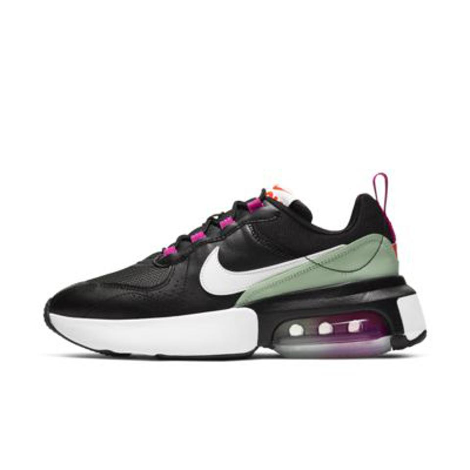 Nike Air Max Verona Women's Shoe in black, purple, and green.