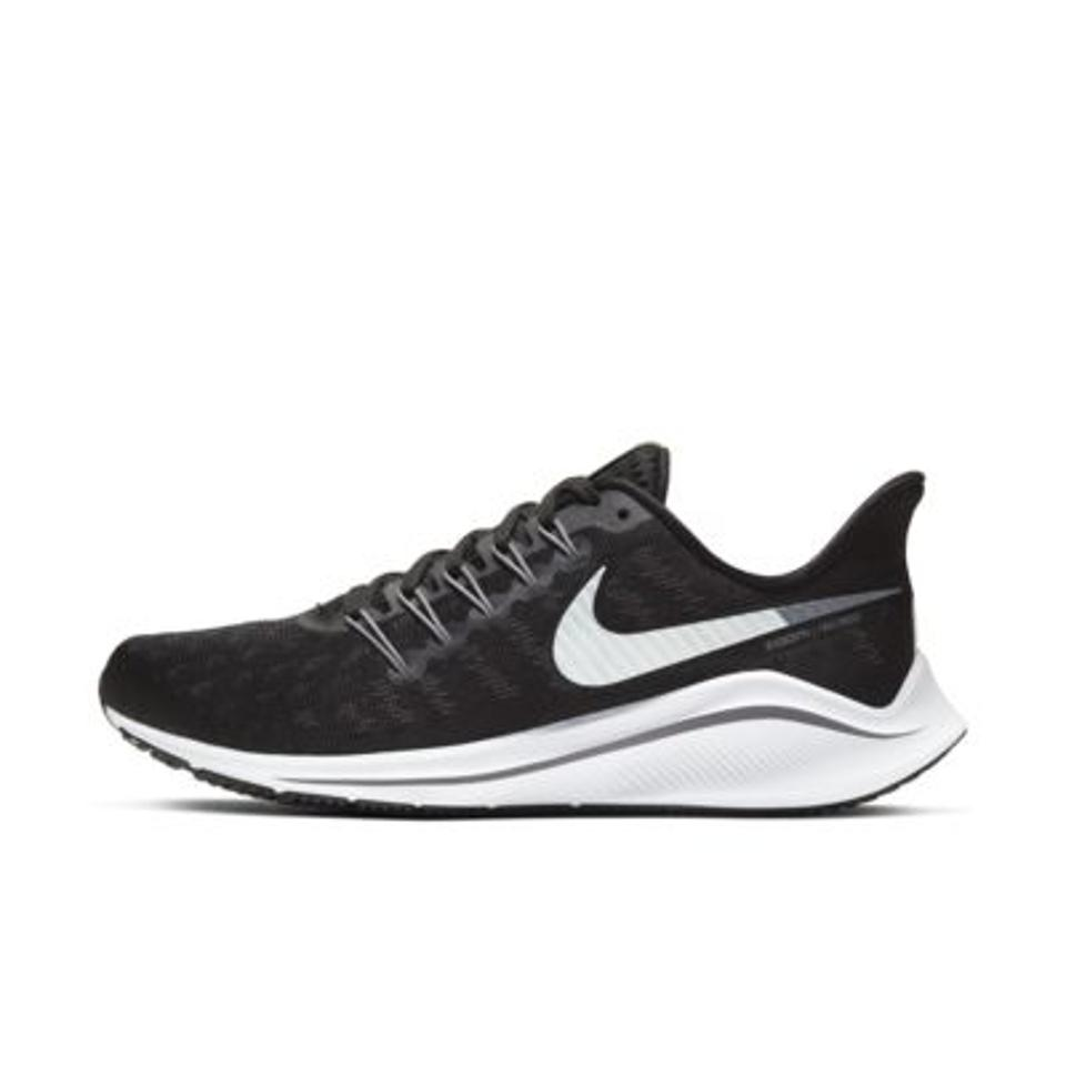 Nike Air Zoom Vomero 14 Women's Running Shoe in black and white.