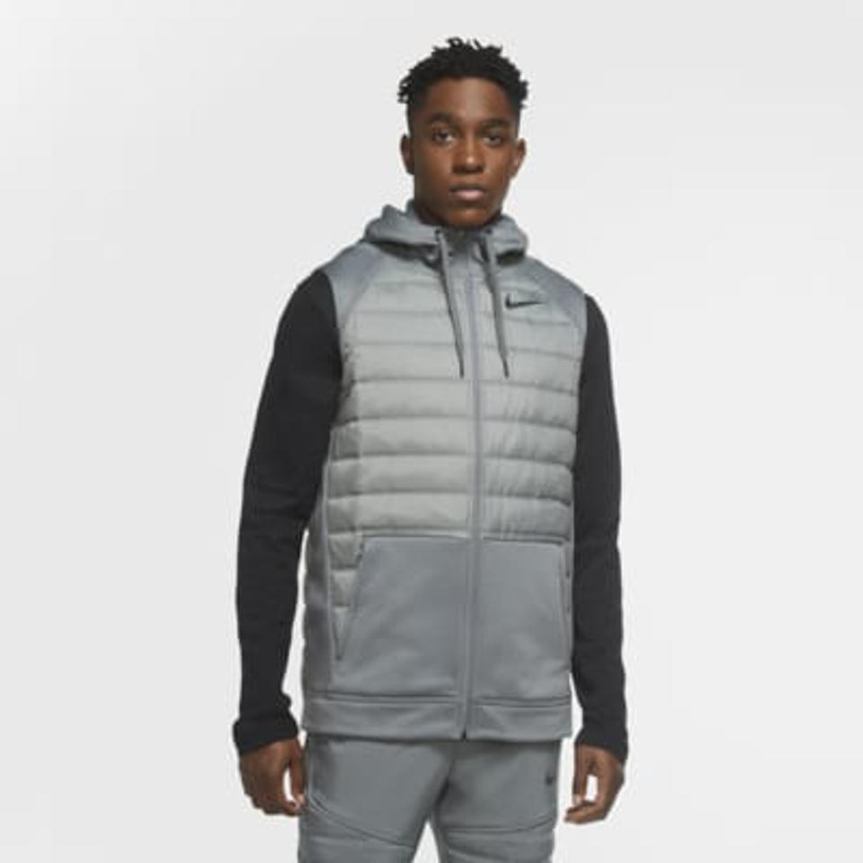 Nike gray winter training vest.