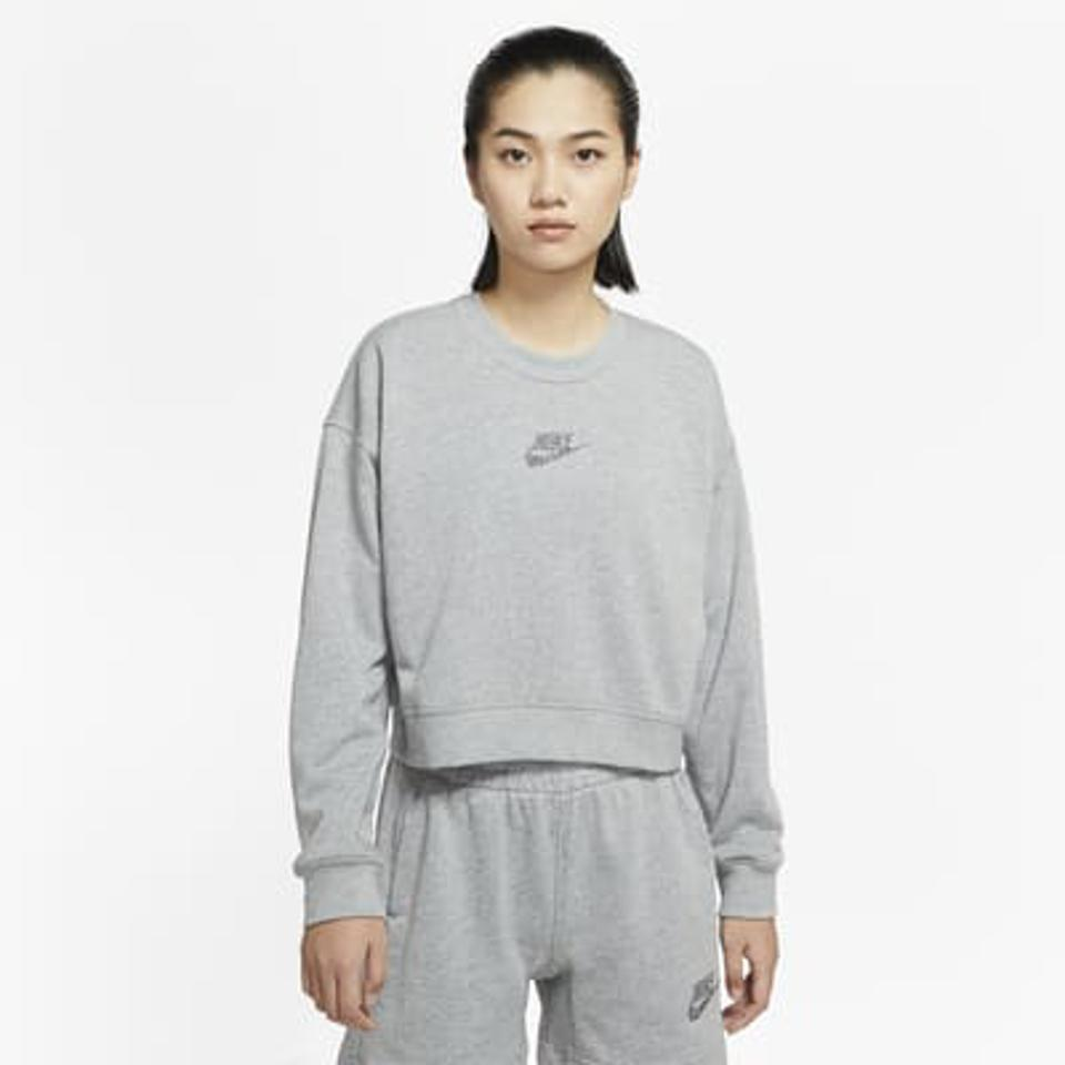 Nike Sportswear Women's Crew in gray.